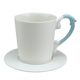 Miix 7.25 oz. Coffee Cup & Saucer Set -Blue