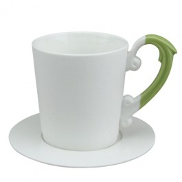 Miix 7.25 oz. Coffee Cup & Saucer Set -Green