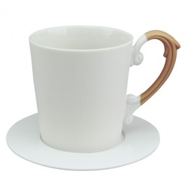 Miix 7.25 oz. Coffee Cup & Saucer Set -Brown
