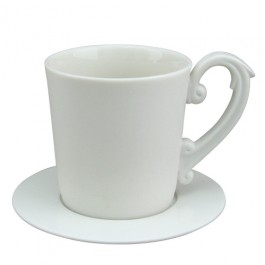 Miix 7.25 oz. Coffee Cup & Saucer Set -White