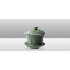 Crackle 120 mL Oriental Tea Cup -Green