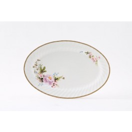 Timeless Rose Oval Platter 14""