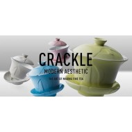 Crackle 120 mL Oriental Tea Cup -Charcoal