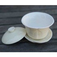 Crackle 120 mL Oriental Tea Cup -White